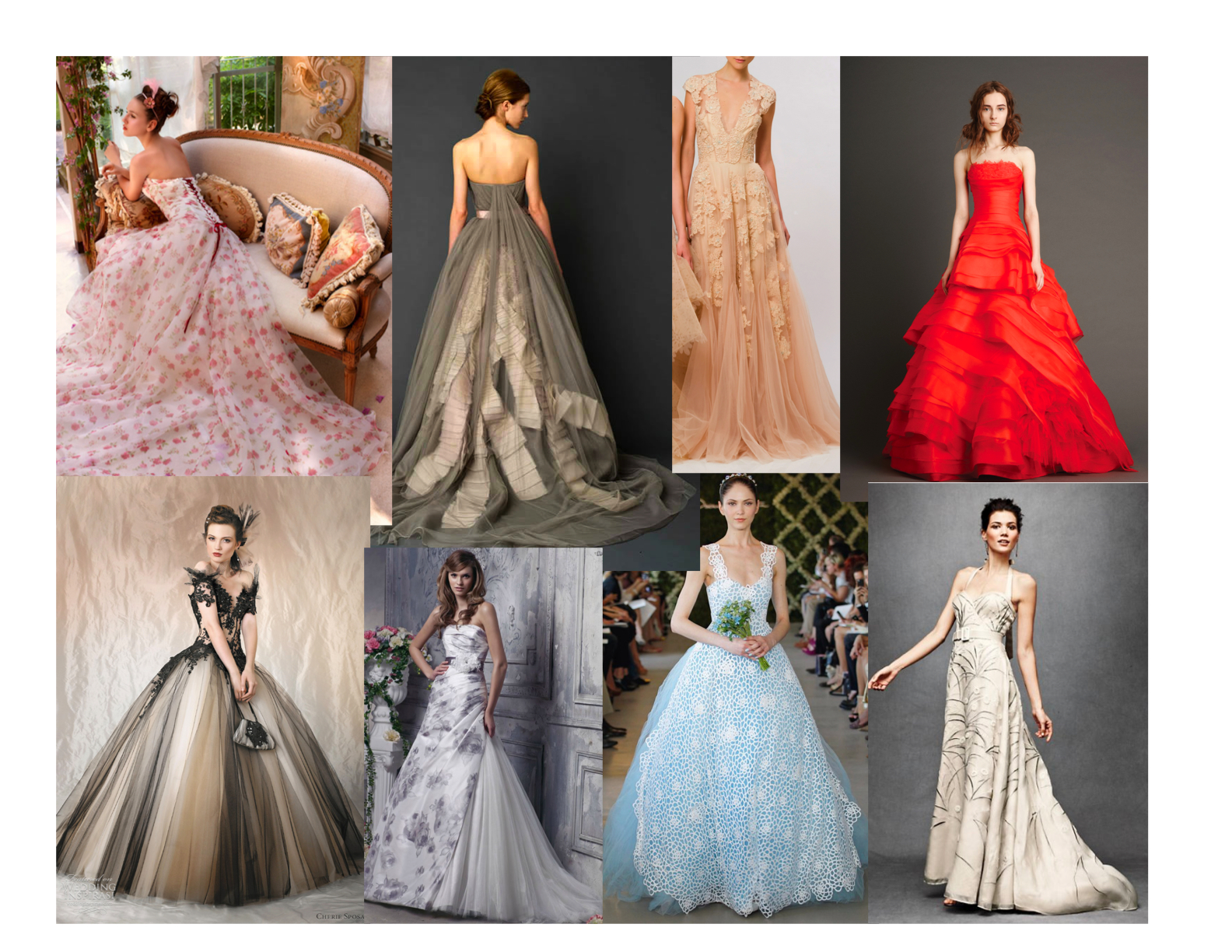 Wedding dresses different color wedding dress for Different colored wedding dresses