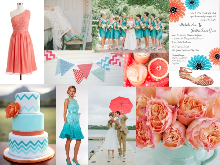 Turquoise And Coral Wedding Decorations Image collections - Wedding ...