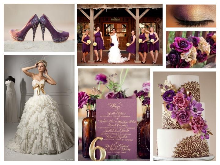 Wedding Style: Purple & Gold   Mariell Bridal Jewelry & Accessories