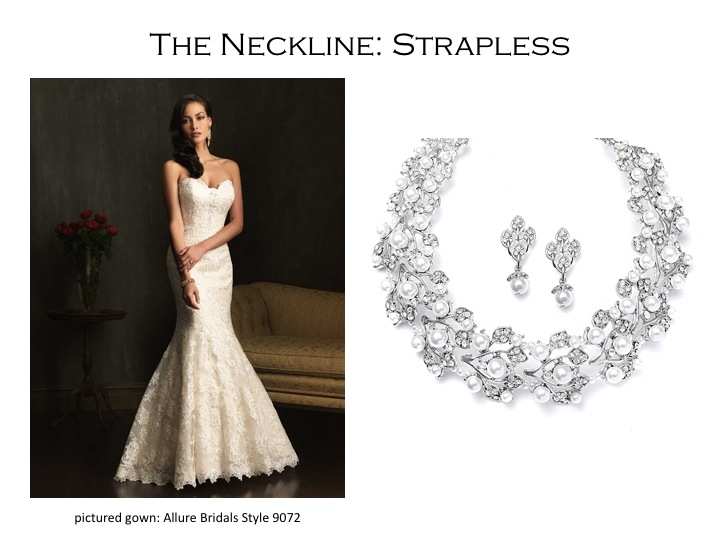 How to Pick the Right Necklace for the Neckline of Your Wedding Gown - from  Mariell 94a084683