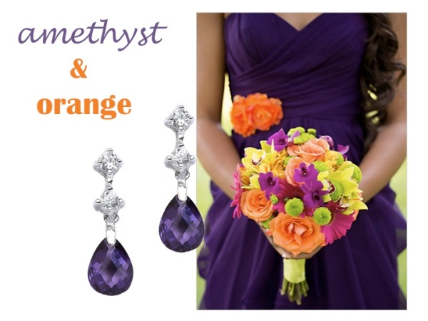 Matching Jewelry - amethys and orange