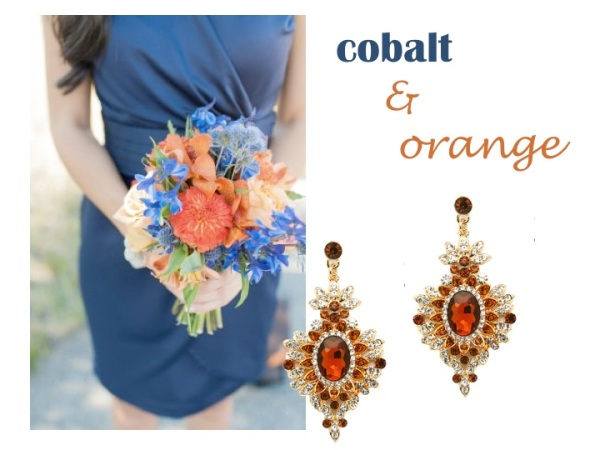 Matching Jewelry - cobalt and orange