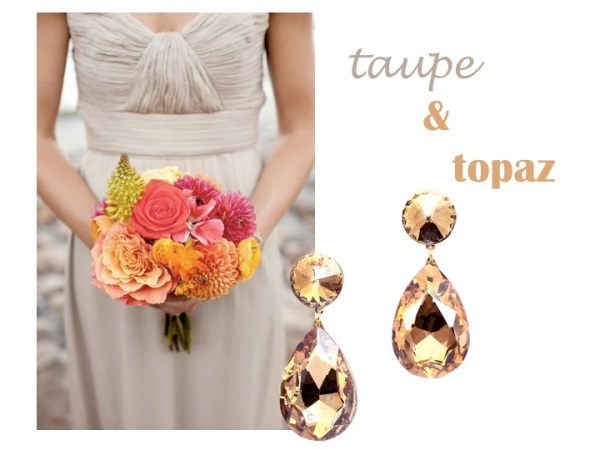 Matching Jewelry - taupe and topaz