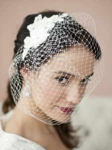 French Net Birdcage Veil
