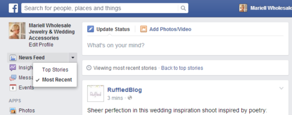 How to Show Most Recent Posts on News Feed