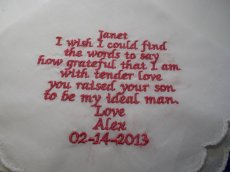 Mother in Law Gift - Embroidered Handkerchief
