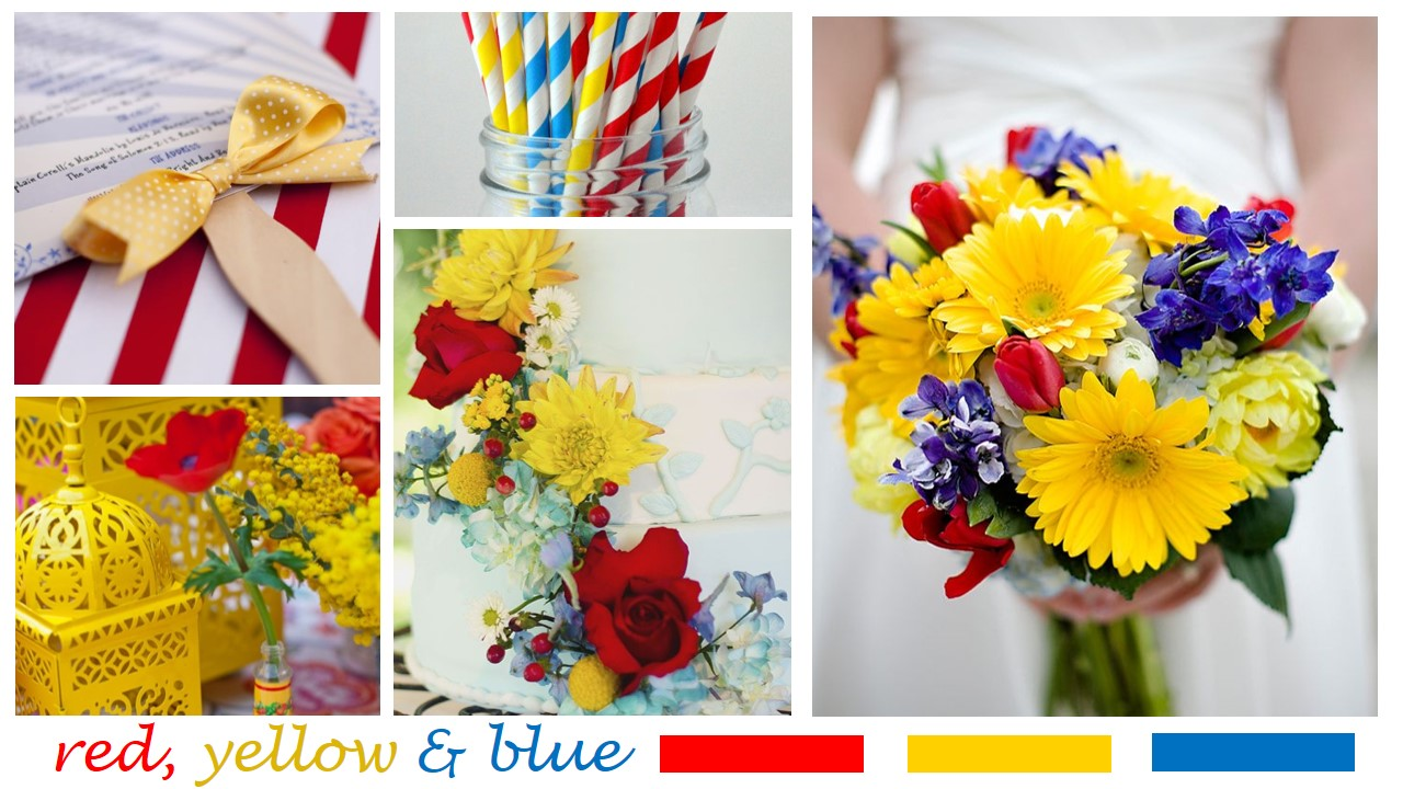 Red Yellow Blue Wedding Inspiration Mariell Bridal Jewelry Accessories