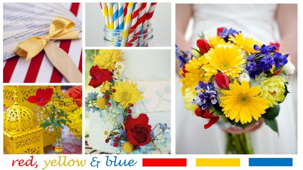 Red Yellow Blue Wedding