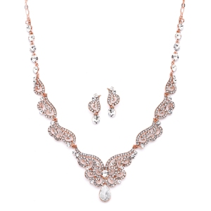 Rose Gold Art Deco Set