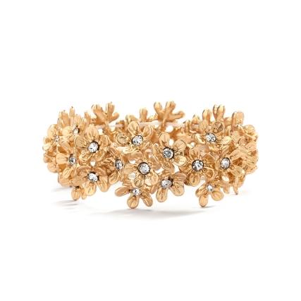 Matte Gold Flower Bracelet