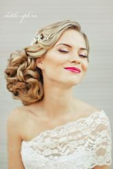 Glamorous wedding makeup and hair