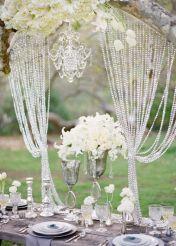 Glamorous wedding styling