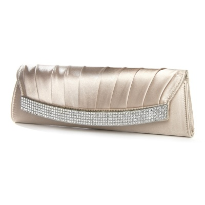 Satin and Crystal Clutch