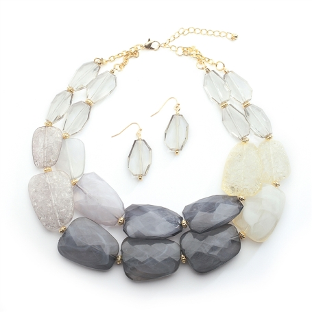 Pewter Tones Chunky Statement Necklace