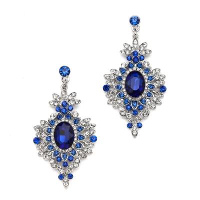 Retro Vintage Navy Blue Drop Earrings