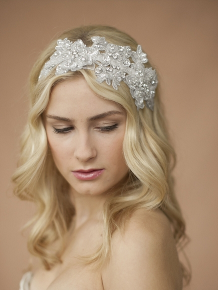 Sculptural Lace Bridal Headband
