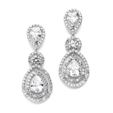 Magnificent CZ Statement Dangle Earrings