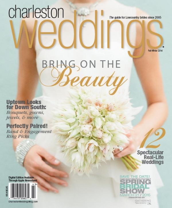 Charleston Weddings, Fall/Winter 2014, featuring Mariell Bridal Jewelry & Accessories