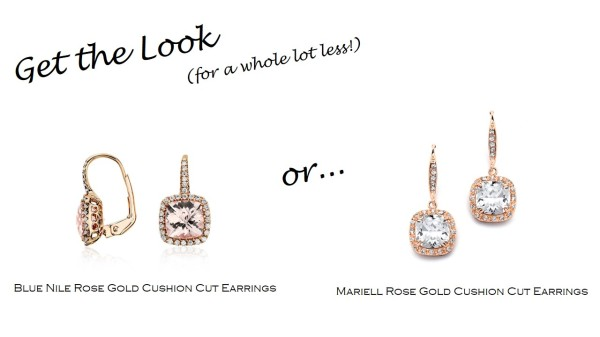 Get the Look: Blue Nile Rose Gold Earrings