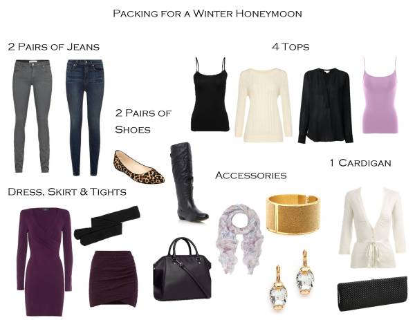How to Pack for a Winter Honeymoon - Packing List