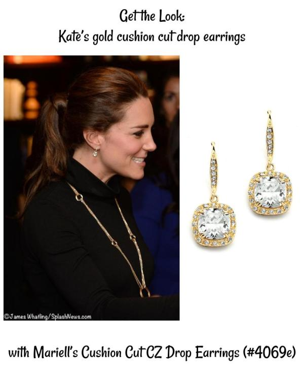 Get the Look: The Duchess of Cambridge's Cushion Cut Drop Earrings