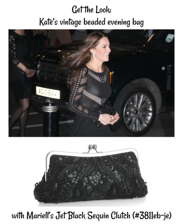Get the Look: The Duchess of Cambridge's Vintage Black Evening Bag