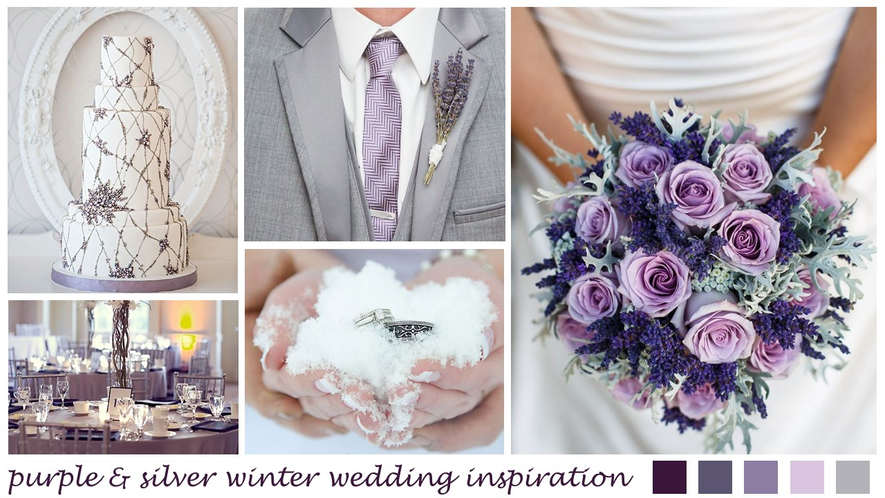 Purple Amp Silver Winter Wedding Inspiration