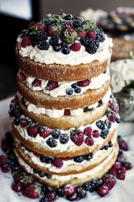 Winter Wedding - Rustic Cake